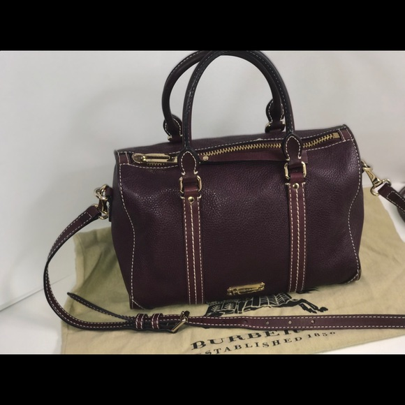 Authentic Burberry Boston speedy satchel bag
